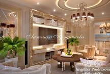 Дубнинская - дизайн интерьера квартиры / Дизайн для квартиры на улице Дубинская спроектирован в стиле Ар-Деко. Люстры, зеркальные поверхности и многочисленные подсветки наполняют дом светом. Приятный бежевый цвет идёт лейтмотивом в интерьере и легко передаёт атмосферу роскоши. Мебель, а также многочисленные элементы декора делают дом уникальным.