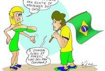 Brasil (Manifestações de 2013) / Charges, frases, imagens e textos referentes às manifestações ocorridas no Brasil no ano de 2013.