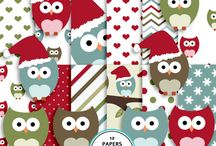 Christmas digital scrapbook / Christmas digital paper, elements and journal cards