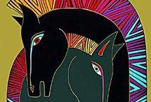 Laurel Burch Horses / Art