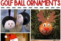 Golf Themed Christmas Decorating / Christmas decorating ideas using golf equipment.