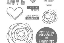 SU! Snuggles and Smooches / Inspirations gathered for use with SU! Snuggles & Smooches stamp set.