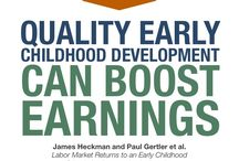 Boost Earnings / Disadvantaged children who receive access to quality childhood development programs are more likely to earn higher salaries as adults. Learn more about the benefits of early learning at www.HeckmanEquation.org.