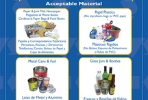 Recycle... what goes in your blue bin? / Each jurisdiction (region) has their own rules about what is accepted in blue bins for recycling. If you have questions, contact your local representative.  But in general there are some commonalities... / by Sdcounty Recycling