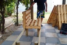 before pic of my husband's work,a bench for the Lapa In the back garden.