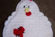 Pasen / Easter / Kipjes (chickens), eendjes, (ducks), eieren,  / by Irene Planting