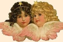 Викторианские вырезки Рождество
