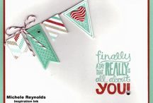 Stampin Up! Banners Framelits, Perfect Pennants, Amazing Birthday