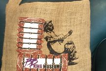 Burlap Totes / Farmers Rock, In High Cotton, and Home of the Delta Blues, Cotton Bales, Cotton Bolls, Mississippi, Burlap, cotton
