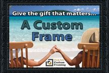 Unique Gifts / Surprise that special someone with a custom frame. Wendy Davis Custom Framing specializes in helping make your art a one of a kind masterpiece. If its important to you its worth framing. We can handle anything from snap shots to original art to old photos.