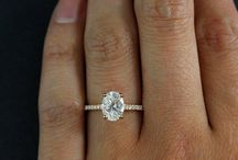 Oval Solitaires and Ring Stacks
