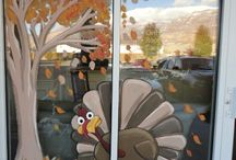 Thanksgiving Window Decorating DIY / Keep your windows bird-friendly during every season!