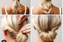 simple hair up