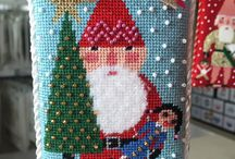 Needlepoint Ornaments / Finished needlepoint ornaments for holiday decor.