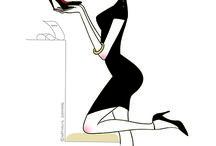 Illustration / Illustrations femmes paris mode beauté