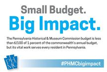 Big Impact : 2015-2016 PHMC Annual report / The Pennsylvania Historical & Museum Commission enriches people's lives by helping them to understand Pennsylvania's past, to appreciate the present and to embrace the future.  This board will spotlight highlights from the 2015-2016 PHMC Annual Report.