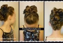 Princess Hairstyles Video Tutorials / YouTube hair tutorials for braids, buns, waterfall braids, fishtail braids, ponytails, updos, curls, etc.