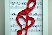 Quilled Treble clef picture