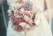 Fabric Flower Wedding Bouquet