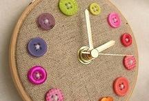 relógio feito com botões
