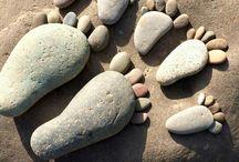 huellas  en piedra
