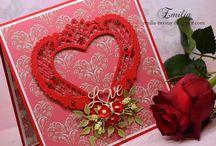 Walentynki/Valentine's cards / Walentynka, walentynki, kartka walentynkowa, valentine, valentine's card
