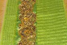 Goldwork / Using golden threads and beads