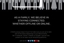 Join the Marvel family on social media / Join Us