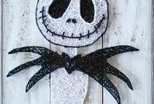 string and nail art
