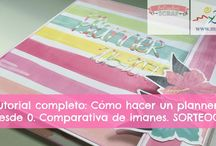 Planners scrap, manualidades