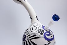 EkoBongo / pictures show bongs made with gourd friuts.
