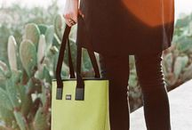 Swing Model / Tote bag with LIGHT INSIDE. New and recycled materials for a simple and functional design.
