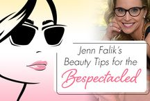 Jenn Falik's Beauty Tips for the Bespectacled / The ultimate statement accessory, eyewear gives you the opportunity to play around with your beauty routine, and in the process, further enhance the flattering effect specs and sunnies have on your face!  / by Eyecessorize