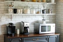 Coffee and Beverage Bar / Coffee and Beverage Bars in home decor.