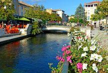 Provence - L'Isle-sur-la-Sorgue / Village du Vaucluse, en Provence, L'Isle-sur-la-Sorgue est situé à proximité d'Avignon (PACA)