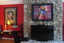 Decorate with Fiber Art / See how fiber art looks in a home or business setting