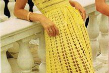 вязаные платья крючком без рукавов