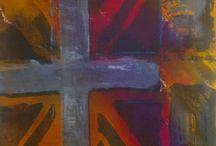 Multi Cultral Union Jack / Multi Cultural Union Jack series - Original Silkscreen laid over stretcher bars boxed. by Georgie Cowan - Glasgow School Art £195 each  or £700 for set 4