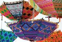 Umbrellas + Parasols / A bohemian vibe ..... its freedom and colors and textures and free-spiritedness.
