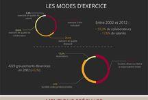 Statistiques sur les avocats / Collection d'infographies avec des statistiques et chiffres-clefs sur la profession d'avocat