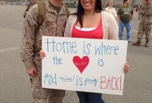 Homecoming (Redeployment) Ideas / Signs, banners and decorating ideas / by Jennifer Smith