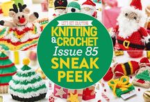 Issue 85 of LGC Knitting & Crochet magazine / We're feeling festive with our Wonder colour pack, which comes with a fun, fluffy ball and exclusive stickers to finish off your Christmas parcels in style. We've got patterns for angels, elves, reindeers and, of course, Father Christmas himself. Don't miss our bumper giveaways and the announcement of our short story competition winner either. Kick off your festive crafting with LGC!