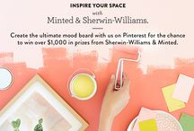 Inspire Your Space / To celebrate the launch of our new Art Styling Services, Minted has partnered with Sherwin-Williams to offer one lucky winner over $1K in prizes towards redecorating your home. Pick one room in your home to redecorate, build a beautiful design mood board on Pinterest, and we'll select one winner to receive $1000 in Minted credit + Styling Services and up to 5g's of paint from Sherwin-Williams.  / by Minted