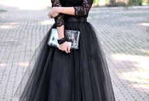 Tulle Lace Skirt Black