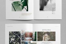 Marketing material layouts