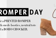Daytime Rompers / www.shoptiques.com/look-books/daytime-rompers