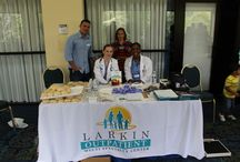 Community Health Fairs / Larkin Community Hospital participates in many health fairs throughout the community.  Larkin provides  Blood Pressure, Dermatology and Psychiatry screenings, as well as muscular manipation.  Stay tuned to the LCH Facebook page at Facebook.com/LarkinHospital to find out where we'll be next!