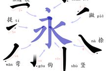 chinese characters írás