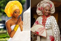 Gele HeadWraps / Colourful Nigerian and African head wraps worn at weddings and special occasions.