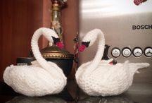 crochet  swans
